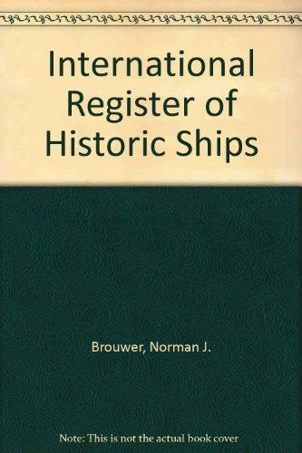 9781850440727: International Register of Historic Ships