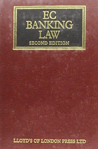 EC Banking Law (Hardback): Marc Dassesse, Etc., Stuart Issacs
