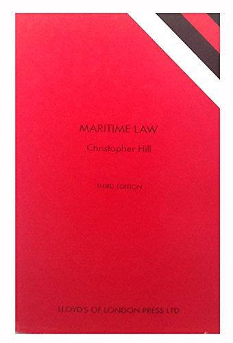 9781850442332: Maritime Law