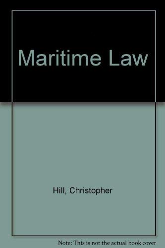 Maritime Law (1850442339) by Hill, Christopher