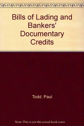 9781850442622: Bills of Lading and Bankers' Documentary Credits