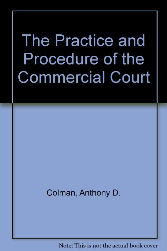 9781850442875: The Practice and Procedure of the Commercial Court