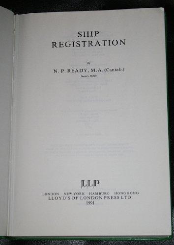 9781850443261: Ship Registration