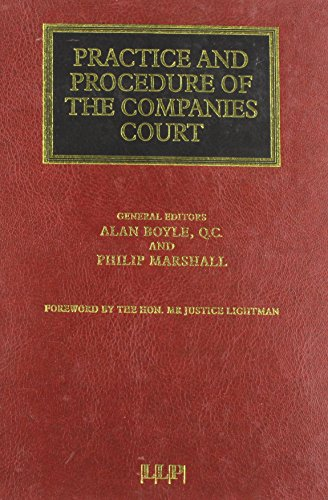 9781850445029: Practice and Procedure of the Companies Court (Lloyd's Commercial Law Library)