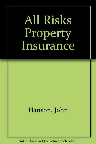 9781850448730: All Risks Property Insurance