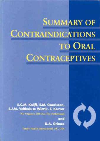 9781850706915: Summary of Contraindications to Oral Contraceptives