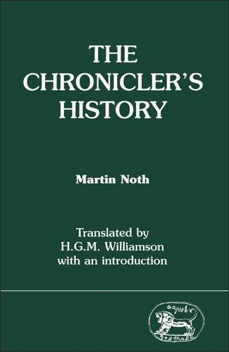 9781850750437: The Chronicler's History (Jsot Supplement Series, 50)