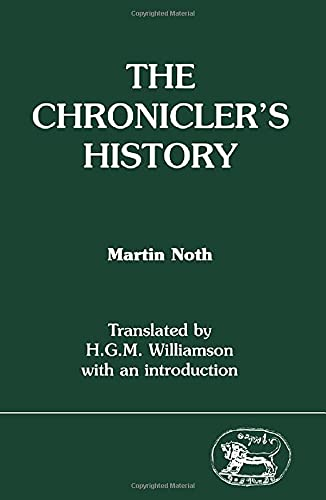 9781850750444: The Chronicler's History (JSOT supplement)