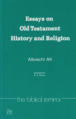 Essays on Old Testament History and Religion: Albrecht Alt