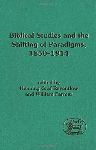 9781850755326: Biblical Studies and the Shifting of Paradigms, 1850-1914