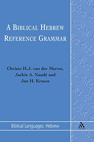 9781850758617: A Biblical Hebrew Reference Grammar (Biblical Languages: Hebrew)
