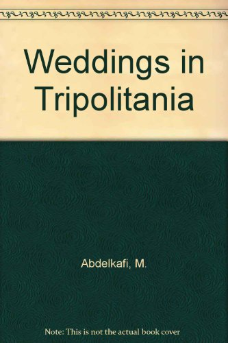 9781850779452: Weddings In Tripolitania