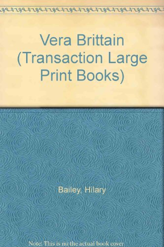 9781850892410: Vera Brittain (Transaction Large Print Books)