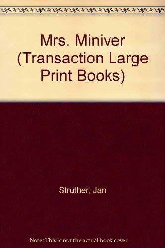 9781850893646: Mrs. Miniver (Transaction Large Print Books)