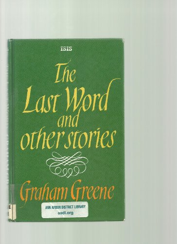 9781850894889: The Last Word And Other Stories (Transaction Large Print Books)