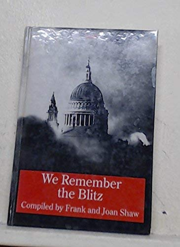 9781850898450: We Remember the Blitz (Transaction Large Print Books)