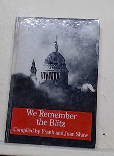 9781850898450: We Remember the Blitz (Transaction Large Print Books)