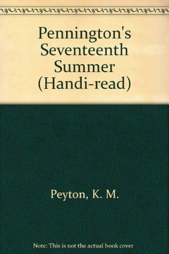 9781850899709: Pennington's Seventeenth Summer (Handi-read)