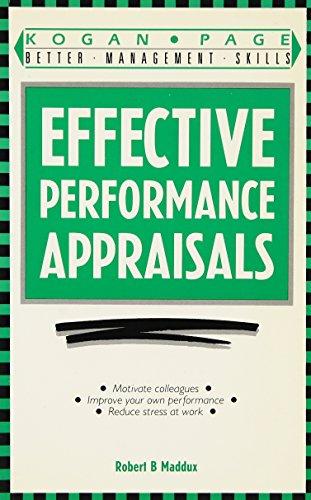 9781850915539: Effective Performance Appraisals