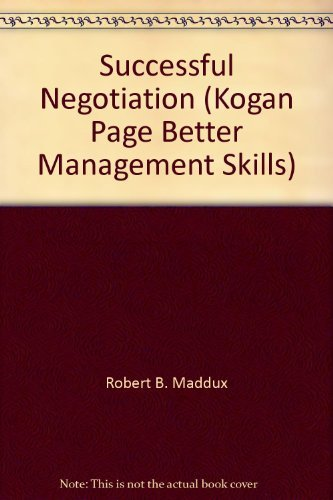 9781850917410: Successful Negotiation (Kogan Page Better Management Skills)