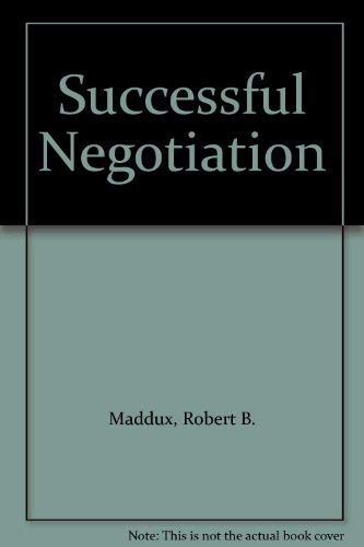 9781850917427: Successful Negotiation