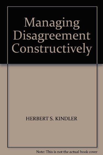 9781850918110: Managing Disagreement Constructively