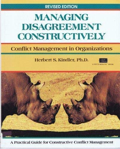 9781850918127: Title: MANAGING DISAGREEMENT CONSTRUCTIVELY