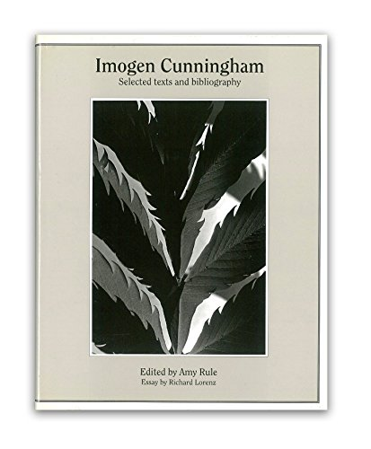 Imogen Cunningham (World Photographers Reference Series): Amy Rule