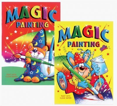 4 X A4 Magic Painting Book: n/a