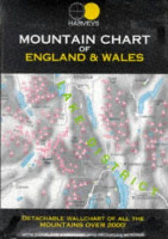9781851372331: Mountain Chart of England and Wales (Feature Maps)