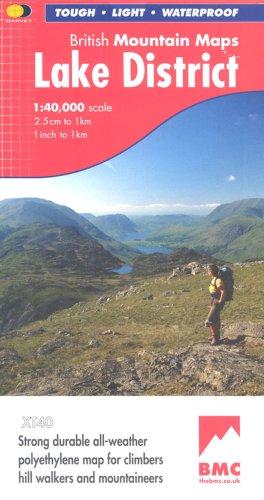 Lake District BMC (British Mountain Map): Harvey Maps