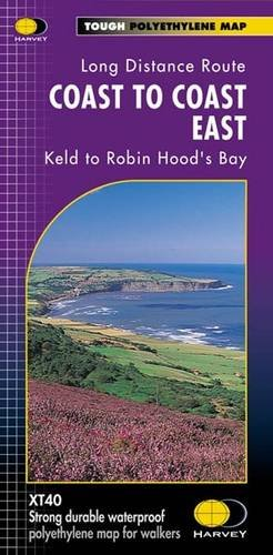 9781851374830: Coast to Coast East XT40: East: Keld to Robin Hood's Bay (Route Map)