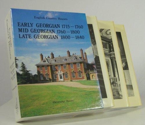 9781851490295: English Country Houses: Early Georgian 1715-1760 Mid Georgian 1760-1800 Late Georgian 1800-1840 (English Country Houses Series)