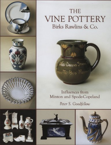 The Vine Pottery: Birks Rawlins and Co, influences from Minton and Spode-Copeland.