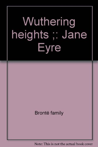 9781851523030: Wuthering Heights ; Jane Eyre