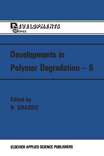 Developments in Polymer Degradation, Vol 7.: Grassie, Norman [Ed]