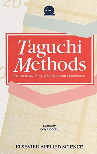 9781851663330: Taguchi Methods