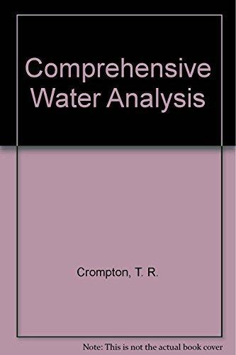 9781851667505: Comprehensive Water Analysis: Two volume set
