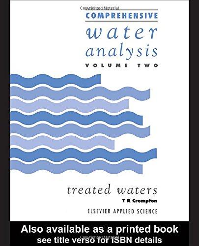 9781851667529: Comprehensive water analysis, Vol. 2: Treated Waters