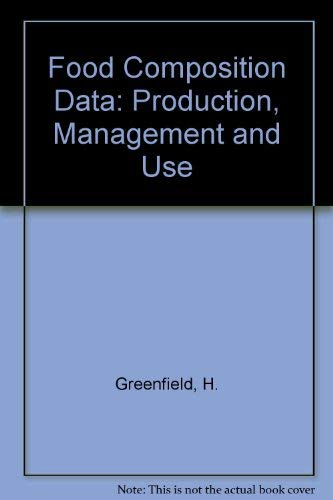 9781851668816: Food Composition Data: Production, Management and Use