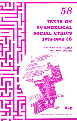 9781851740017: Texts on Evangelical Social Ethics 1974-83: Pt. 1 (Grove booklet on ethics)