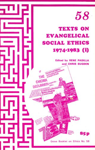 9781851740321: Texts on Evangelical Social Ethics 1974-83: Transformation - The Church in Response to Human Need Pt. 3