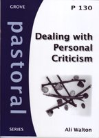 9781851748327: Dealing with Personal Criticism (Pastoral)
