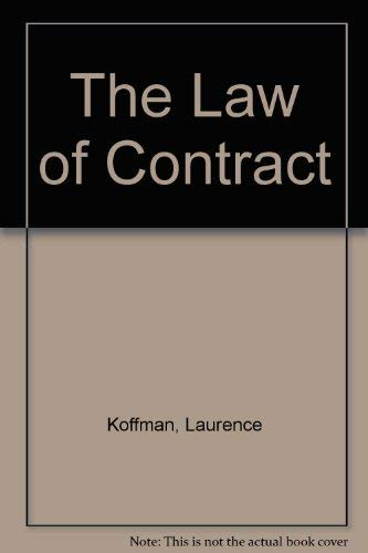 9781851901616: The Law of Contract