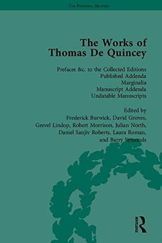 9781851965205: The Works of Thomas De Quincey, Part III (The Pickering Masters) (v. 10-11, 15-16, 19)