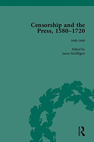 9781851969937: Censorship and the Press, 1580-1720