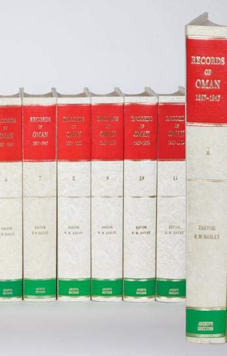 Records of Oman 1867-1960 12 Volume Hardback Set Including Map Box (Hardback)