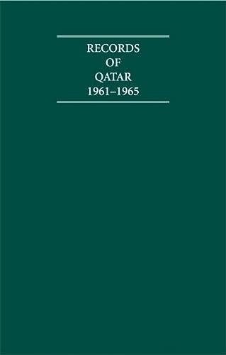 9781852077808: Records of Qatar 1961-1965 5 Volume Hardback Set (Cambridge Archive Editions)