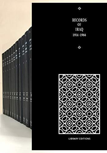 Records of Iraq 1914-1966 15 Volume Hardback Set (Hardback): Jane Priestland, Alan De Lacy Rush