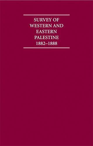 Survey of Western Palestine 1882-1888 13 Volume Hardback Set Including Paperback Introduction, ...